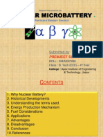 PPT on Nuclear Microbatteries