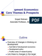 Development Economics Core Themes & Prospects