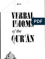 Verbal Idioms of Quran