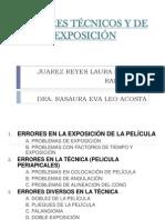 ERRORES TÉCNICOS Y DE EXPOSICIÓN