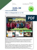 PLAN DE INTEGRACIÓN TIC- CEIP MIGUEL DE CERVANTES 2013