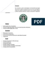 Starbucks PESTEL Analysis