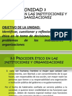 Unidad 3 Etica en Las Instituciones y Organizaciones