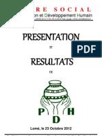 Présentation et resultat de PDH 23 Octobre  2012