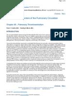 Fisiopatologia de La Hipertension Pulmonar