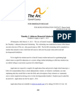 Arc of Carroll County Scholarship Release