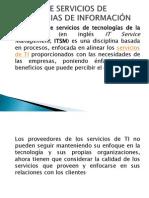 GESTION DE SERVICIOS DE TECNOLOGIAS DE INFORMACIÓN