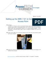 TechCorner 31 - Setting up the Moxa AWK-1121 to Connect to an Access Point