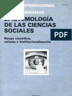 EPISTEMOLOGÍA DE LAS CIENCIAS SOCIALES 1