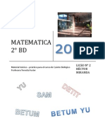 Matemática - 2°BD Biológico