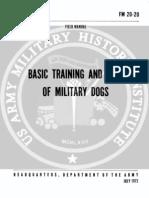 army vietnam military dog basic training care
