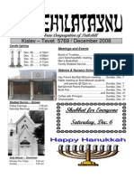 First Hebrew Congregation of Peekskill Bulletin - Decembe 2008
