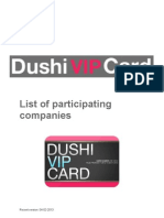 Dushi VIP Card List of Participating Companies 14-03