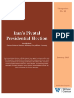 Iran's Pivotal Presidential Election (Viewpoints No. 18)