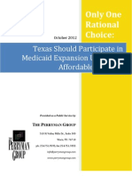 Only One Rational Choice - Texas Should Participate in Medicaid Expansion Under the Affordable Care Act