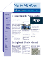 Mel in Mt Albert - Newsletter from Melissa Lee MP - March 2013, Issue 2