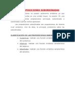 Las Proposiciones Subordinadas