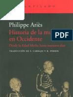 Aries, Philipe. Historia de La Muerte en Occidente