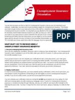 Unemployment Insurance Orientation