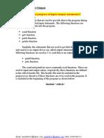 C Language Basic Chapter 4 Inputs and Outputs, tayyab8632, malik8632, 03445064252