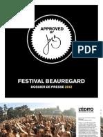 festival Beauregard 2013 - dossier de presse