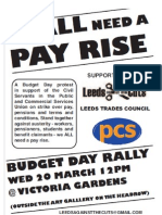 We All Need A Payrise demo leaflet