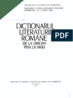 Dictionarul Literaturii Romane de La Origini Pana La 1900 (1979)