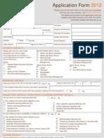 FT Application Form 2012