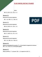 Ejercicios de Puntos Rectas y Planos I