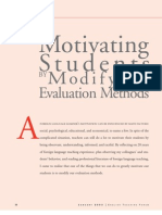 Motivation and Evaluation