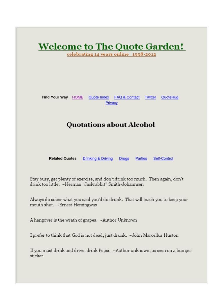 Alcohol Qoutesdfbdf Alcohol Intoxication Drink