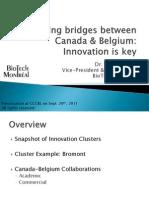 Cliff Pavlovic - Building Bridges Between CAN & BE - CCCBL - Sept 2011