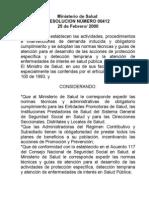 Resolucion 412 de 2000 Normas Tecnicas P y P