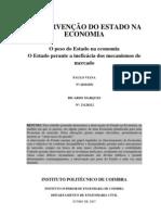 A intervenção de Estado na economia