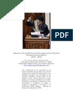 La Reeleccion Presidencial en Bolivia (2010 - 2013)