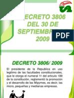 DECRETO 3806 2009