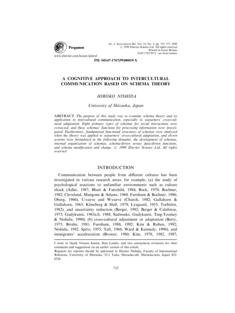 Nishida Schema Theory | Schema (Psychology) | Memory