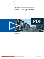 58998722 BMC Remedy Action Request System 7-5-00 Error Messages Guide