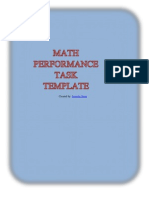 Performance Task Template