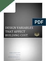 Design Variables that affect building construction