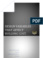 Design Variables that affect building construction