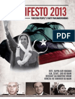 Pakistan Peoples Party Parliamentarians  Manifesto 14 March 2013