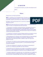 Disposiciones y Principios Generales de Ley 300 de 1996