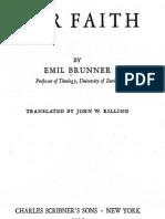 Brunner Emil Our Faith