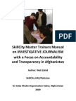 Trainers Manual - A Guide to Investigative Journalism