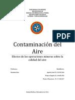 Impactos Mineros (Contaminacion Del Aire)