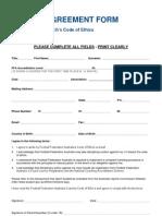 FFA's Coaching Code of Ethics