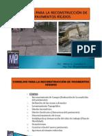 TIPS PARA LA RECONSTRUCCIÓN DE PAVIMENTOS RÍGIDOS