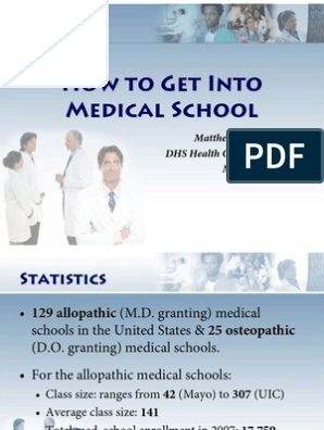 How to Get Into Medical School | Medical College Admission