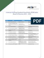 FPSB India Board of Directors